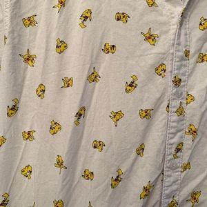 Pokemon Shirts - Pokémon Pikachu Button Down, Large